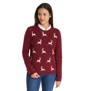 Reindeer Sweater by Bass Size M